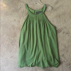Green halter top